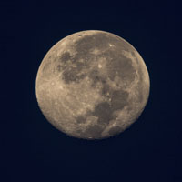Super Moon at dawn