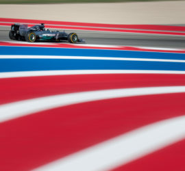 Lewis Hamilton driving his Mercedes AMG Petronas at Circuit of the Americas, Austin during the Formula 1 Grand Prix FP2 session on Friday, October 31st, 2014.